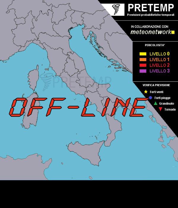 Previsione Temporali OFF-LINE